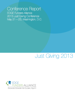 Just Giving 2013 Conference Report