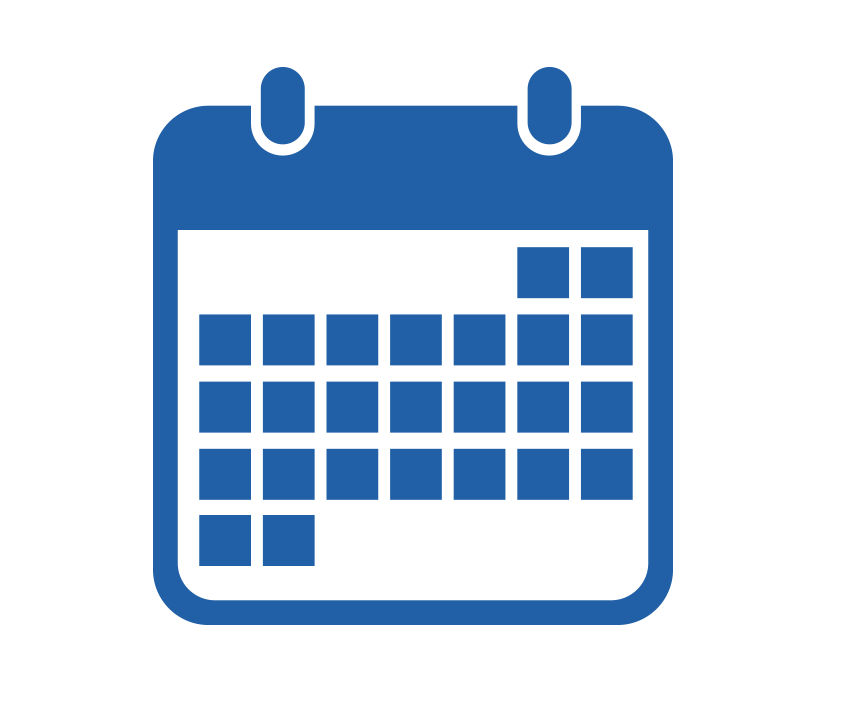 Calendar Graphic Icon : Edge activities funders