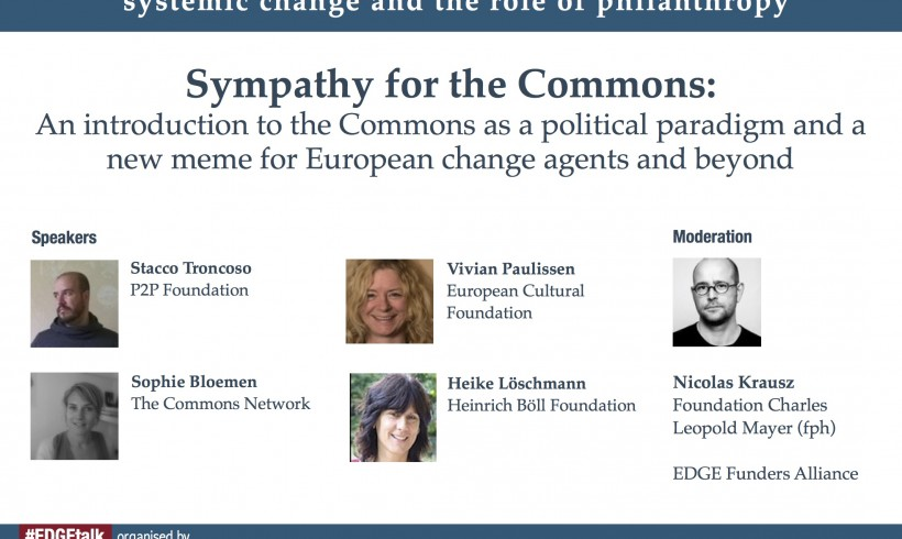 Sympathy for the Commons: first #EDGEtalk of Just Transition webinar series
