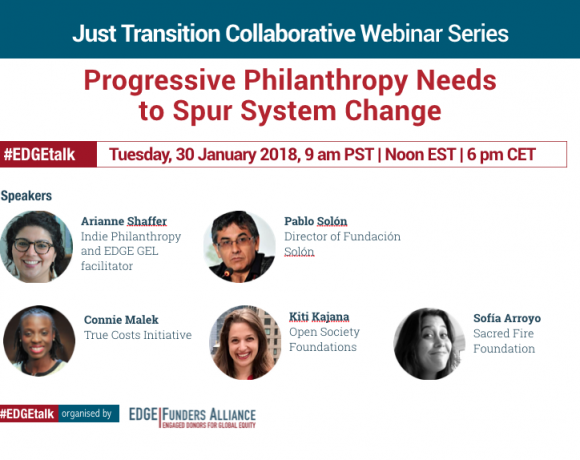 Just Transition Collaborative webinar: Progressive Philanthropy Needs to Spur System Change