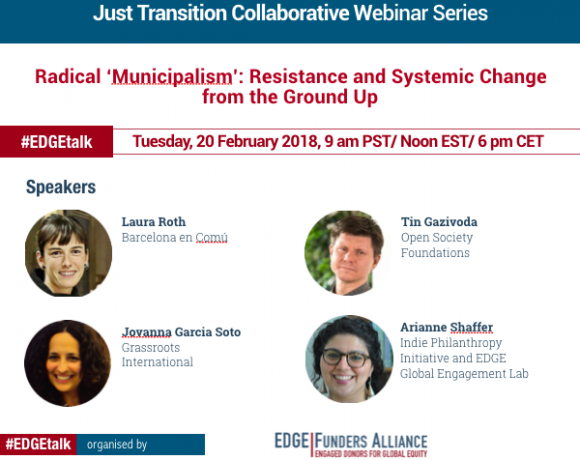 """Webinar – Radical """"Municipalism"""": Resistance and Systemic Change from the Ground Up"""
