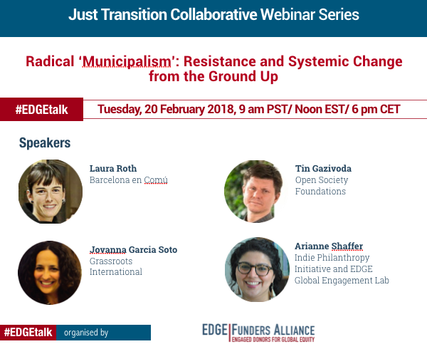 "Webinar – Radical ""Municipalism"": Resistance and Systemic Change from the Ground Up"